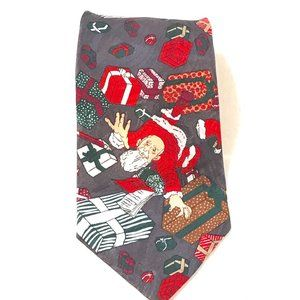 Holiday Christmas Santas Presents Neckwear Tie